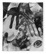 Artist's Hands Fleece Blanket