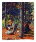 Artists In The Woods Fleece Blanket