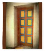 Arts Center Door Fleece Blanket