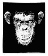 Evil Monkey Fleece Blanket
