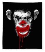 Evil Monkey Clown Fleece Blanket