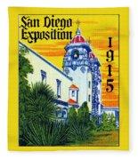 1915 San Diego Exposition Fleece Blanket