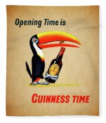 Opening Time Is Guinness Time Fleece Blanket
