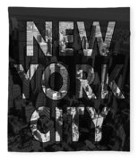 New York City - Black Fleece Blanket