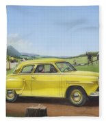 Studebaker Champion Antique Americana Nostagic Rustic Rural Farm Country Auto Car Painting Fleece Blanket
