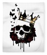El Rey De La Muerte Fleece Blanket