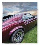 Rich Cherry - '69 Mustang Fleece Blanket