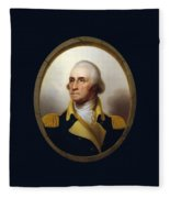 General Washington - Porthole Portrait  Fleece Blanket