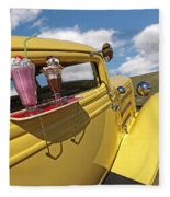 Deuce Coupe At The Drive-in Fleece Blanket