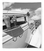 Deuce Coupe At The Drive-in Black And White Fleece Blanket