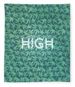 High Typo  Cannabis   Hemp  420  Marijuana   Pattern Fleece Blanket