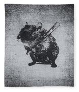 Angry Street Art Mouse  Hamster Baseball Edit  Fleece Blanket