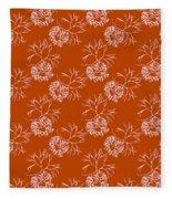 Orange Seaweed Marine Art Furcellaria Fastigiata Fleece Blanket