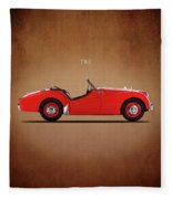 Triumph Tr3a 1959 Fleece Blanket