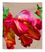 Parrot Tulip Fleece Blanket