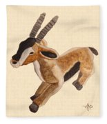 Cuddly Gazelle Watercolor Fleece Blanket
