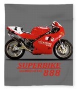 Ducati 888 Fleece Blanket