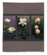Lotus Collection II Fleece Blanket