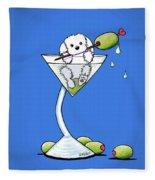 Maltese Martini Fleece Blanket