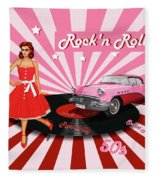 Rock'n Roll The Sweet Fifties Fleece Blanket