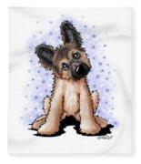 Curious Shepherd Puppy Fleece Blanket