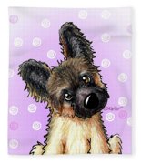 Kiniart Shepherd Puppy Fleece Blanket