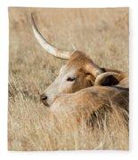 Prairie Longhorn Fleece Blanket