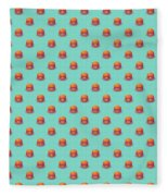 Burger Isometric - Plain Mint Fleece Blanket