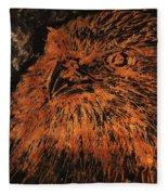 Eagle Metallic Copper Fleece Blanket