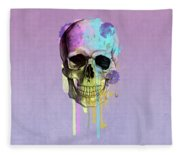 Skull 6 Fleece Blanket
