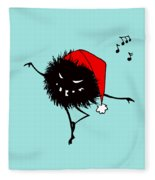 Singing And Dancing Evil Christmas Bug Fleece Blanket
