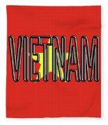 Flag Of Vietnam Word Fleece Blanket