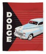 Dodge Showroom Poster Fleece Blanket