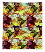 Graffiti Style - Markings On Colors Fleece Blanket