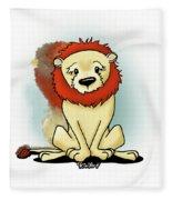 Lion Peaceful Reflection  Fleece Blanket