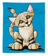 Sand Cat Fleece Blanket
