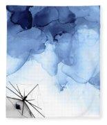 Stormy Weather II Fleece Blanket