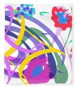 Abstract Garden #2 Fleece Blanket by Bee-Bee Deigner