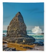 Rock Stack On The Costa Viicentina, Portugal Fleece Blanket