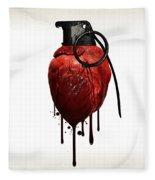 Heart Grenade Fleece Blanket