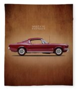 Ford Mustang Fastback 1965 Fleece Blanket