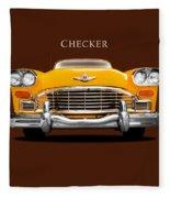 Checker Cab Fleece Blanket by Mark Rogan