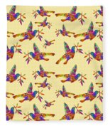 Dove With Olive Branch Fleece Blanket