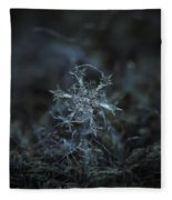 Snowflake Photo - Starlight Fleece Blanket