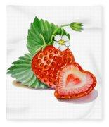 Artz Vitamins A Strawberry Heart Fleece Blanket