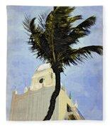Aruba Palm Fleece Blanket