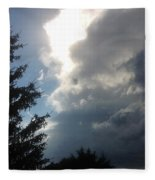As The Clouds Move Across The Sky Fleece Blanket