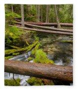 As The Creek Flows Fleece Blanket
