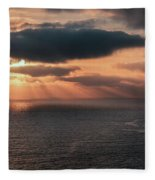 As The Day Ends Fleece Blanket