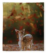 As The Leaves Fall - Painting Fleece Blanket